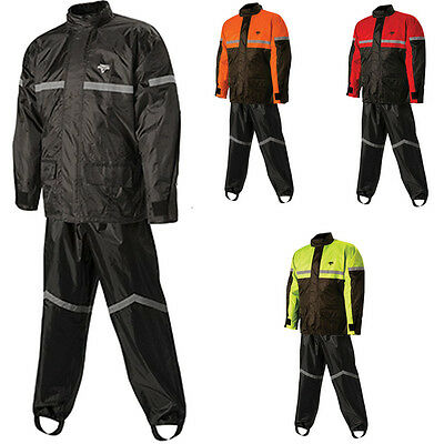 Nelson-Rigg Stormrider Motorcycle Waterproof 2-Piece Rain Suit Pants&Jacket