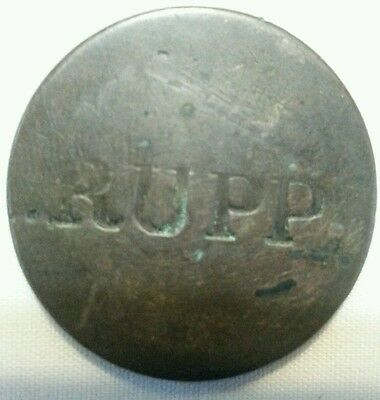 RUPP countermark host us large cent counterstamp