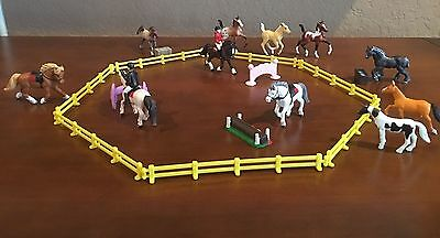 MIXED MINI HORSE LOT - MIni Whinnies, Safari with Riders, Fences and Accessories