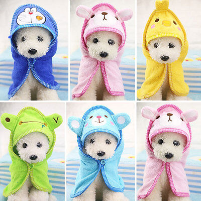 Super Absorbent Soft Pet Dog Bathrobes Bath Towel Puppy Puppy Pajamas Blanket