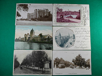 6 Early 1900's Postcards Of Melbourne, Including Houses Of Paliament