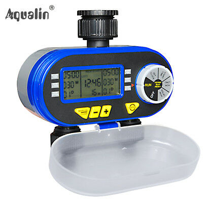 Garden LCD Hose Irrigation Water Timer Sprinkler with Rain Delay Feature