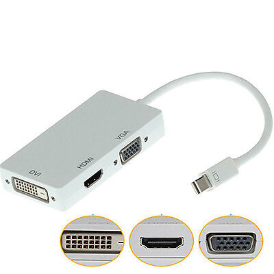 Mini DisplayPort DP to VGA HDMI DVI Converter Adapter Cable for Apple Affordable