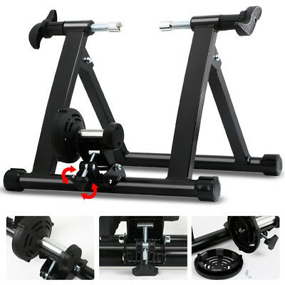 NEW WORKOUT INDOOR BICYCLE TRAINER ROLLERS Magnetic Stand Cycling Training Bike