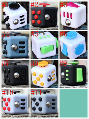 Magic Fidget Cube Anti-anxiety Focus Adults Stress Relief Kids Toy Xmas Gift