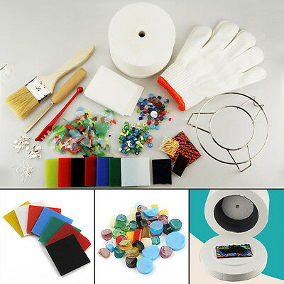 15Pcs/Set Large Microwave Kiln Kit Stained Glass Fusing Supplies Professional