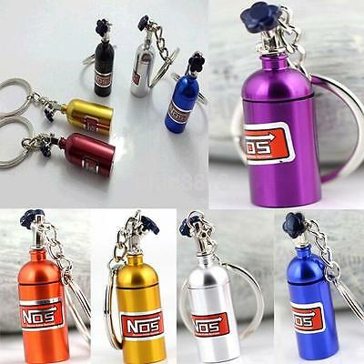 Turbo Keychain!NOS Mini Nitrous Oxide Bottle Keyring Stash Pill Box Storage