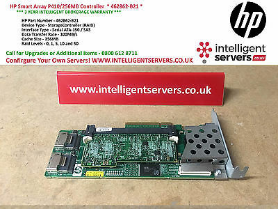 HP Smart Array P410/256MB Controller Low Profile ** P/N 462862-B21 **