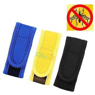 Anti Mosquito Bug Repellent Wrist Band Bracelet Insect Bug Outdoor 2 Refills GW