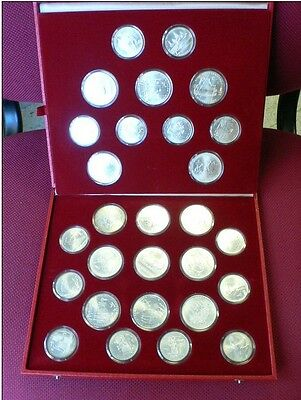 Complete Set Summer Olympic Games Moscow 80 - 28 SILVER COINS