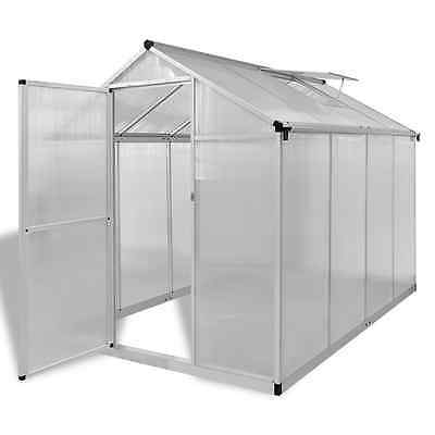 Reinforced Aluminium Greenhouse with Base Frame 4.6 m2 Walk-in Vegetable Plants