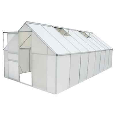 Greenhouse 12.25m2 Polycarbonate & Aluminium Walk-in Vegetable Plants Grow House