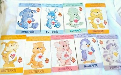Huge rare care bear cousins vintage sewing pattern bundle lot butterick plush