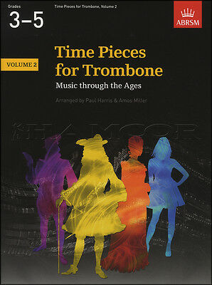 Time Pieces for Trombone Volume 2 Sheet Music Book ABRSM Grades 3-5