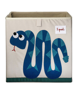 3 Sprouts Baby Kids Storage Box - Blue Snake
