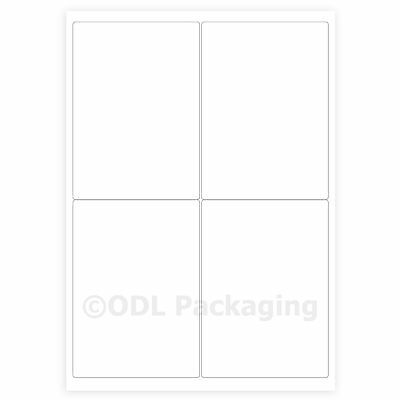 100 A6 White Address Labels - 25 Sheets (4 to View) Laser/Inkjet