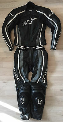 2- tlg. Damen Lederkombi Alpinestars Gr. 42 Top! Motorradkombi Leather Suit