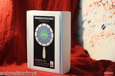 Phenakistoscope. Optical animation pre-cinema toy. Wood Model