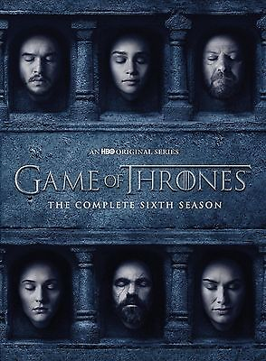 GAME OF THRONES The Complete Sixth Season 6 DVD Region 2 New Sealed UK