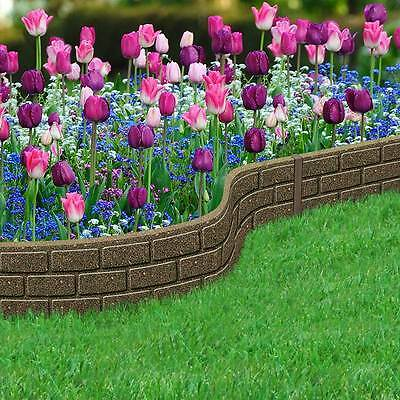 Decorative ECO FRIENDLY Recycled Rubber Border garden lawn Edging NEW