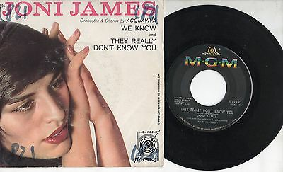 JONI JAMES disco 45 giri MADE in USA We know + They really don't know you