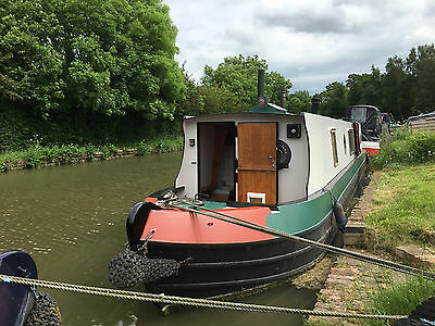 47' traditional narrowboat with moorings, fine hardwood interior, two stoves
