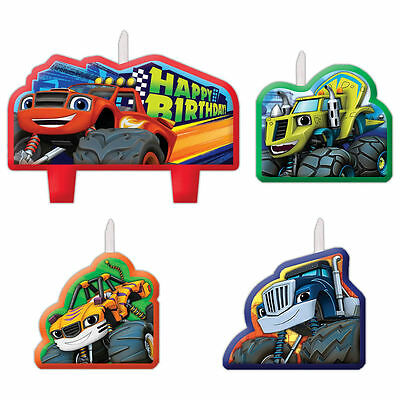 Blaze and the Monster Machines Candles, 4 Pack, Cake Toppers