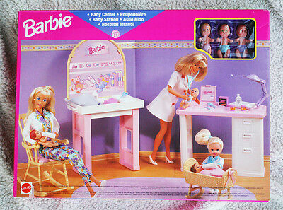 Barbie Baby Center (1997). With 3 Babies! Hyper Rare ! Brand New Old Stock!