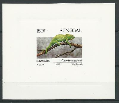 Senegal 1991 Sc#917(Stamp) Reptiles-Chameleon Luxe Sheet inscribed 1990 MNH NGAI