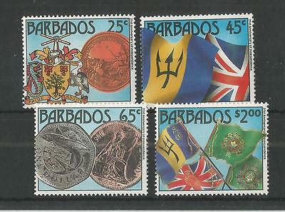 Barbados 1987 21St Anniv Of Independence Sg,849-852 Um/m Nh Lot 2050A