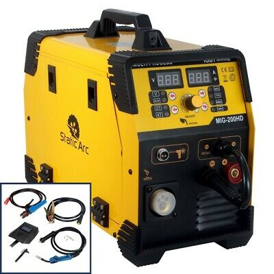 SUPER MIG 160 AMP INVERTER WELDER PORTABLE WELDING MACHINE w/ MMA & TIG FUNCTION