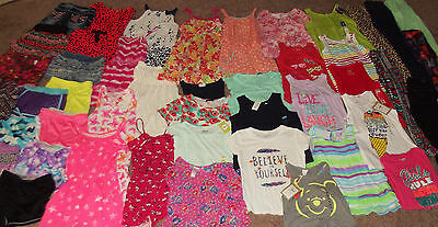 Huge 50pc Lot Girl's Spring Summer Clothing sz 10-12 Justice Name Brands