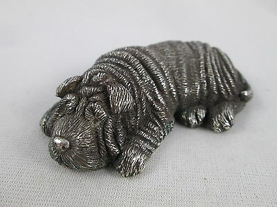 Antique Russian 88 Silver Dog Figurine Chinese Shar Pei Faberge MN Moscow