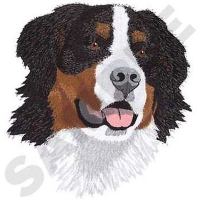 "Bernese Mountain Dog Head  Embroidered Patch 7.5"" x 8."""