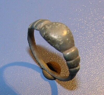Ancient bronze ring Middle Ages. Original