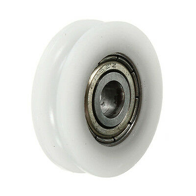 2 pcs U Groove Nylon Round Pulley Wheel Roller For 3.8mm Rope Ball Bearing