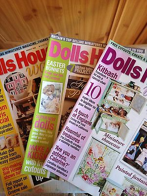 3 Magazines, Dolls House World,1999