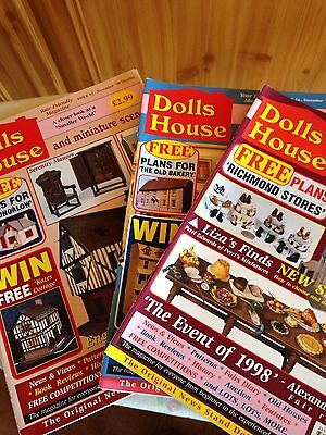 3 Magazines, Dolls House & Miniature Scene, 1998/9