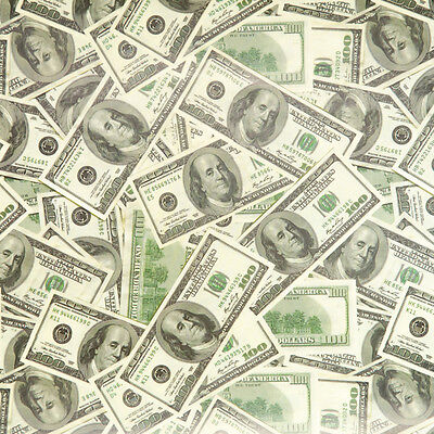 HUNDRED DOLLAR BILL ($100) birthday gift wrap wrapping paper 2 large sheets