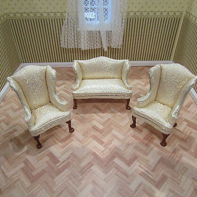 Jia Yi Dolls House Gold Living Room Suite 12Th Scale New