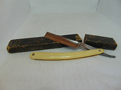 "H. BOKER & Co's Tree Logo ""King Cutter"" Straight Razor With Case"