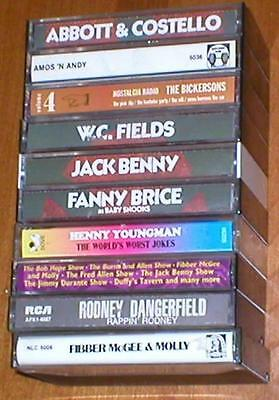Lot of 10 Audio Recordings on Cassettes of Comedy Classics of Yesteryear
