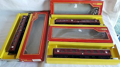 3 Triang / Hornby Br Maroon Mk1 Coaches Very Good Boxed