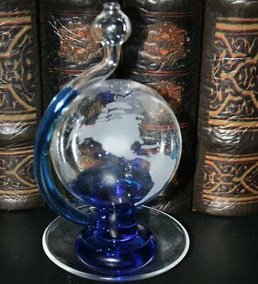Ambient Weather BA30806 Etched Globe Storm Glass Barometer w/ Drip Cup