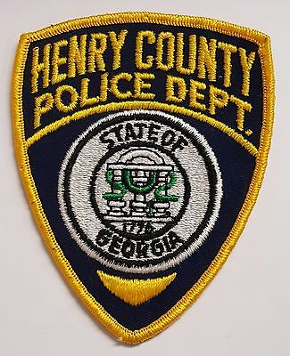 Henry County Police Department State of Georgia Cloth Patch