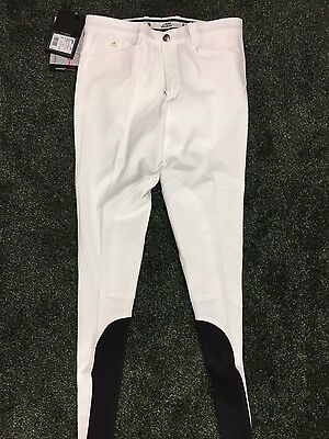 Equiline Grafton Mens Breeches in White - Size 28