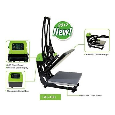 Galaxy Auto-open Heat Press with Slider- 38x38 40x50cm GS-103 Transfer Print