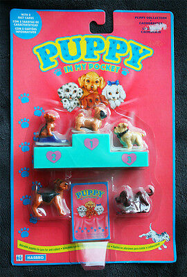 PUPPY IN MY POCKET SET (HASBRO, 1993. Ver 3). 5 Fact Cards, BRAND NEW OLD STOCK!