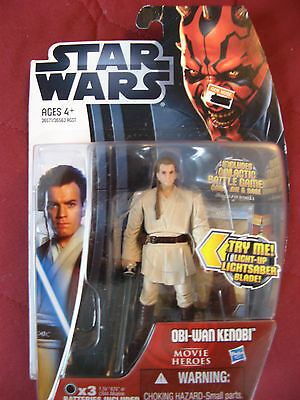 Vintage Mh 16 Obi-Wan Kenobi  Star Wars Light Up Action Figure Movie Heroes