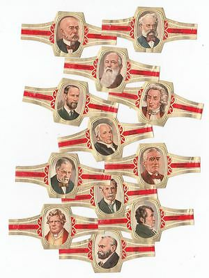 12 cigar bands Principal Type Oval Famous Inventors iss in 1978